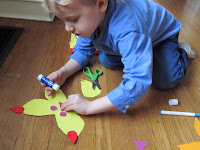 Decorating Paper Butterflies