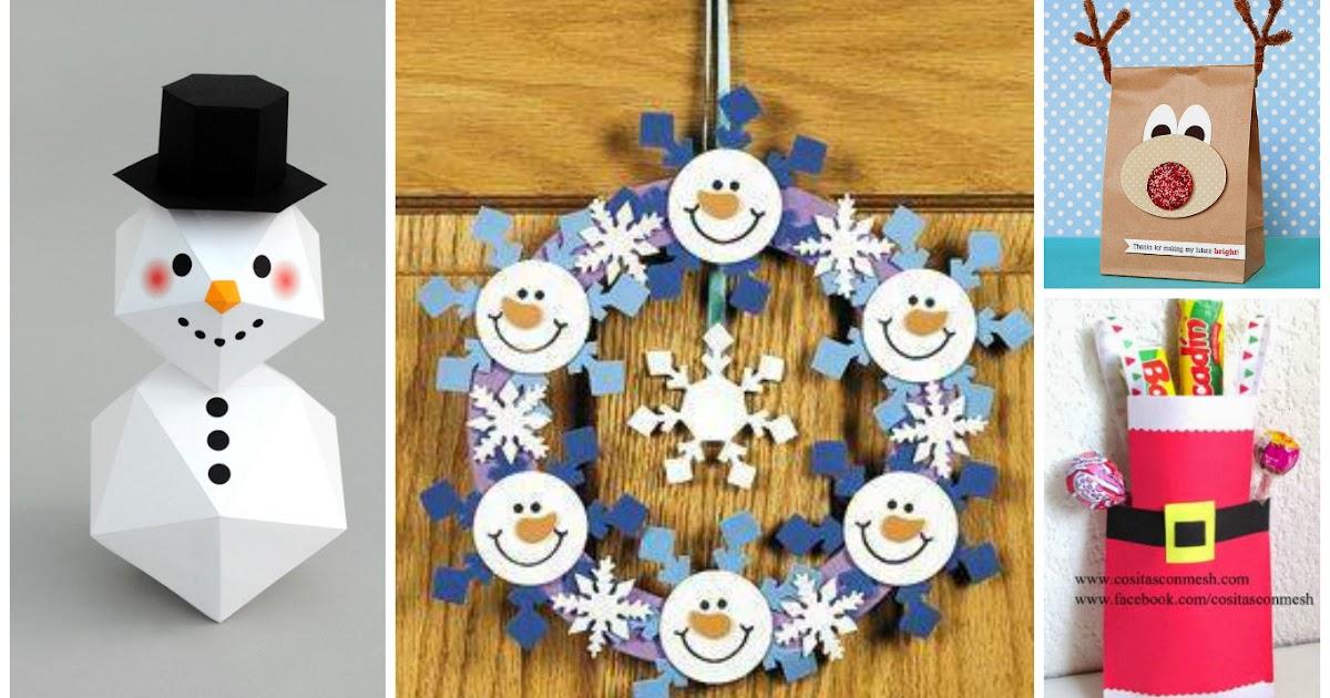 Manualidades adornos y regalos navide os con papel - Adornos navidenos papel ...