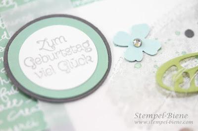 Stampin up Frühlingsreigen, Geburtstagskarte basteln, Stempelparty stampin up, Katalog stampin up, Stempel-biene, match the sketch,