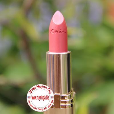 Son L'oreal colour riche 444 tropical coral màu hồng san hô mỹ phẩm xách tay mỹ www.huynhgia.biz