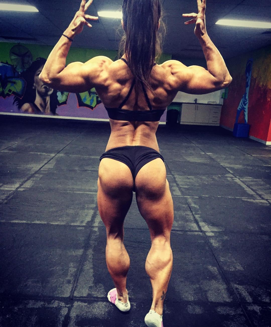 Her Calves Muscle Legs: Rach White Huge Fbb Calves