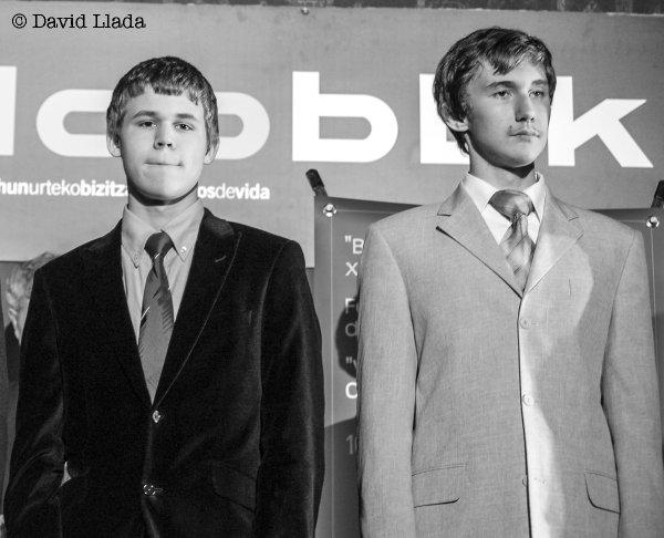Magnus Carlsen y Sergey Karjakin se conocen desde hace mucho tiempo (© David Llada)