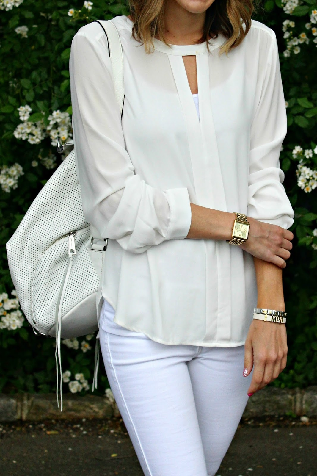 forever 21 white chiffon blouse