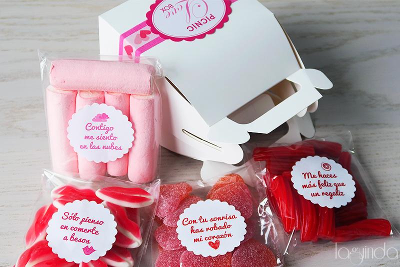 regalo original golosinas san valentin