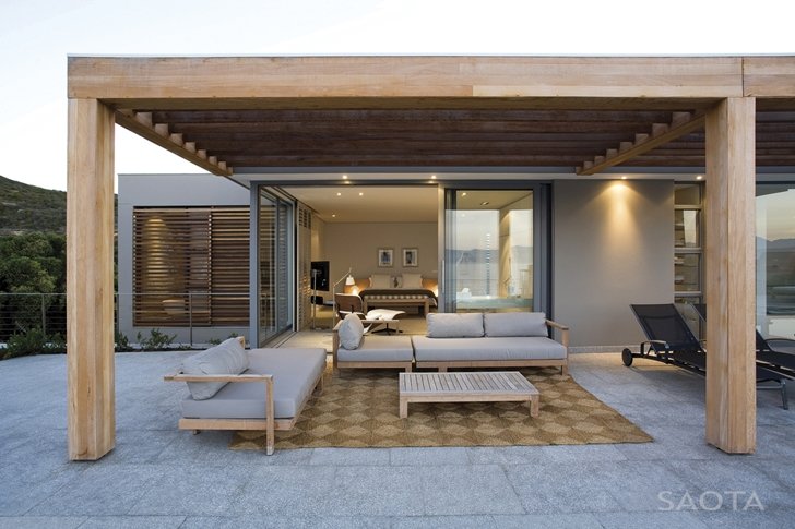 Covered terrace in Beautiful Plett 6541+2 Home by SAOTA