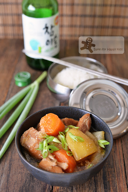 korean soju chicken stew easy