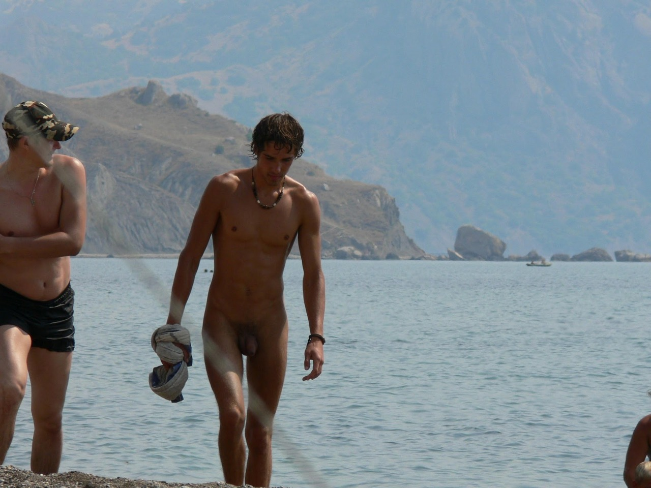 Nude beach men boys naked