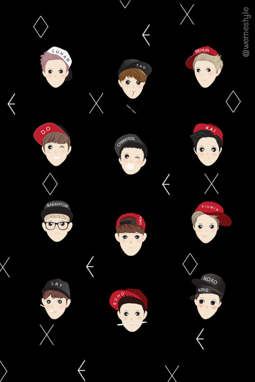 Top 4 Exo Group Iphone Wallpaper Sweety Wallpapers