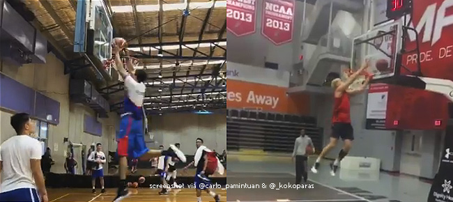 Kobe Paras & Gabe Norwood's Double-Tap Dunk (VIDEO) ala Larry Nance Jr.