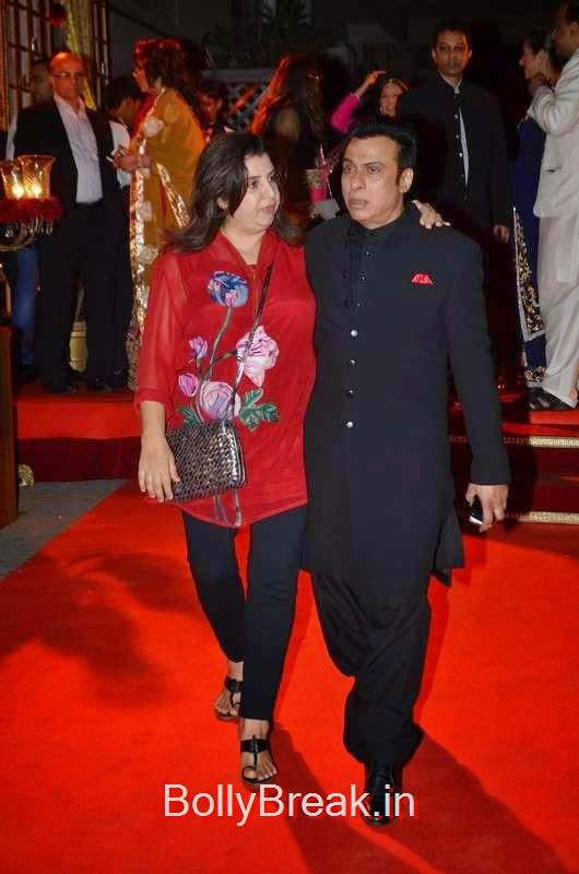 Farah Khan with Ali Morani at his daughters wedding, Sunny Leone, Neha Dhupia, Sonakshi Sinha Snapped At DIfferent Events