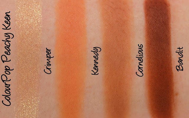 ColourPop Peachy Keen Quad Swatches & Review