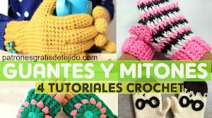 Cómo Tejer Guantes y Mitones a Crochet | 4 Tutoriales en Español