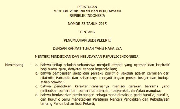 Image Result For Download Permendikbud Ri Nomor A Tahun