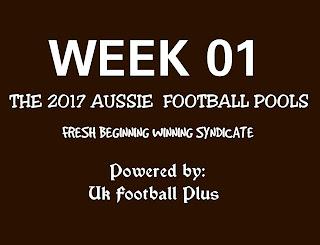 Wk01 aussie football pools - Fresh beginning syndicate