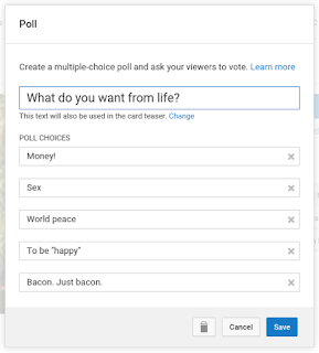 Filling out the Poll Card options