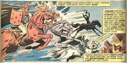 1974 Giant-Size Fantastic Four 3 Horsemen
