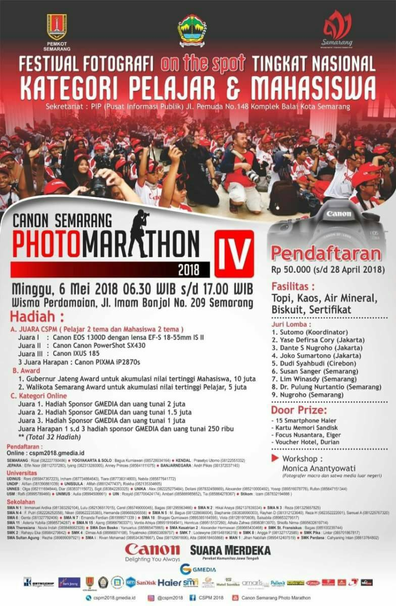 Lomba Foto On The Spot Nasional 2018 [Semarang Photo Marathon 2018]
