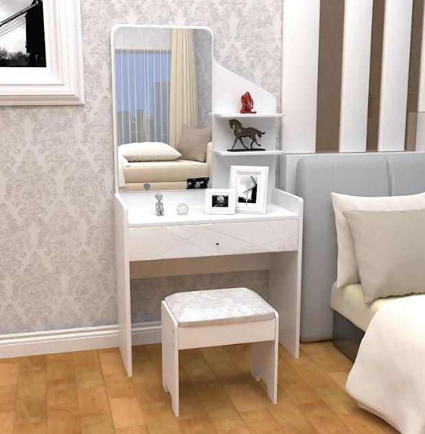 meja rias modern minimalis ukuran kecil untuk kamar