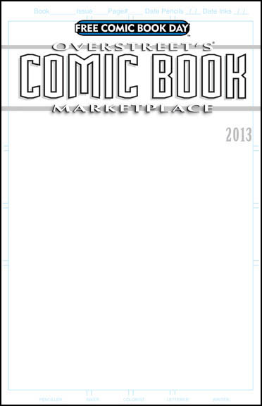 Blank Comic Book Cover Template - FREE DOWNLOAD