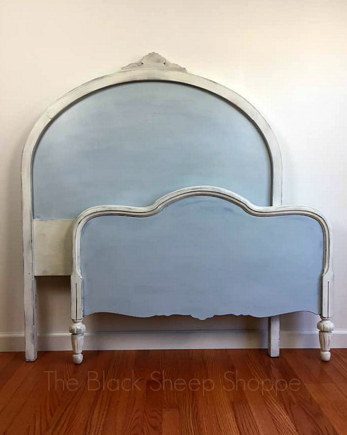Back view of headboard and footboard