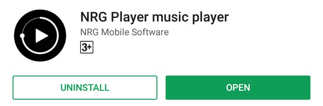 NRG Android Music Player App