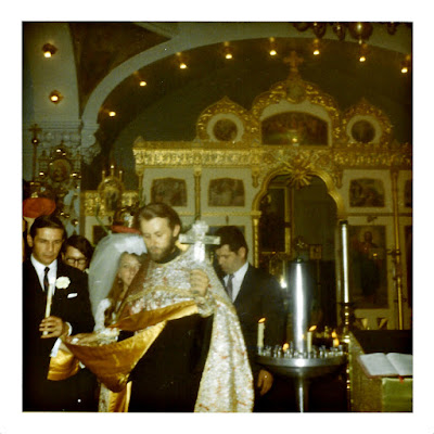 Frank Storti and Elena Vasilev get married at the Holy Trinity Cathedral in San Francisco, California
