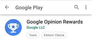 Google opinion rewards app, Google opinion rewards