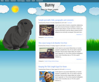 Bunny Animated Blogger Template