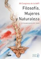 Cartel Congreso Filosofía,Mujeres y Naturaleza