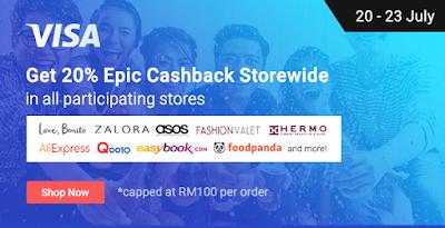 Shopback Malaysia Visa Cashback Promo