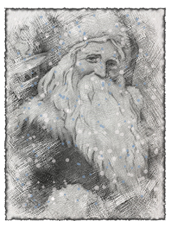 Free Old World Santa Sketch...........