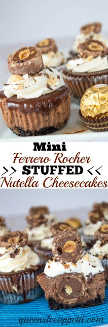 MINI FERRERO ROCHER STUFFED NUTELLA CHEESECAKES