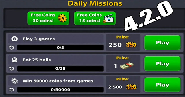 download 8 ball pool Updated daily missions 4.2.0 apk