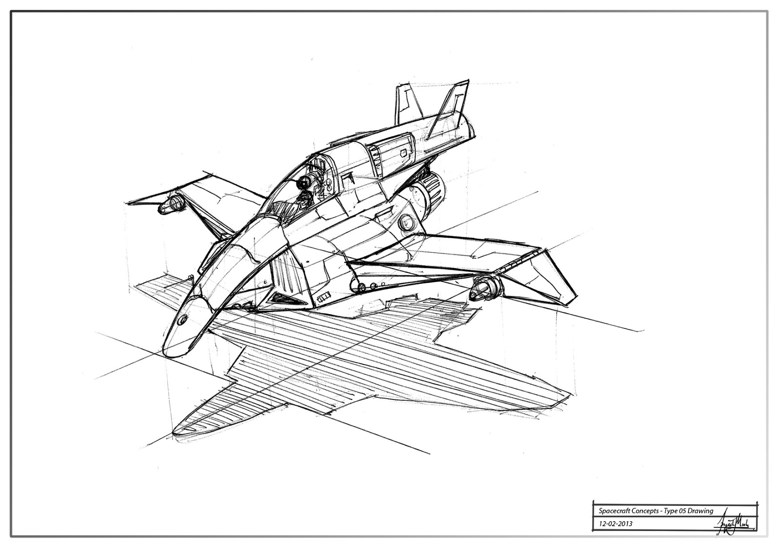 spacecraft drawing - photo #1