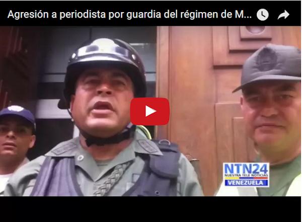 Guardia agrede a un periodista en la Vice-presidencia
