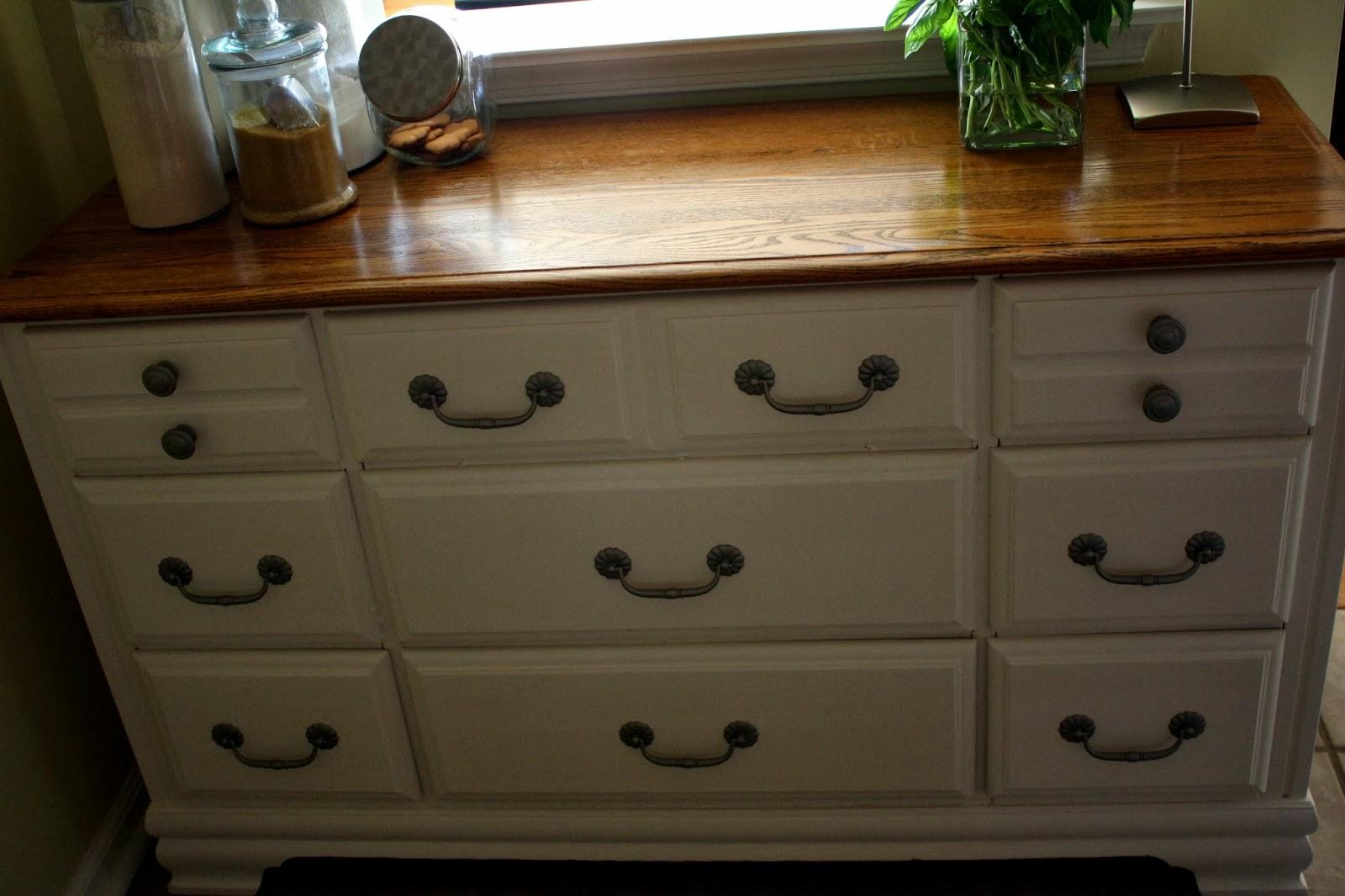 the semi-frugal life: diy: dresser turned kitchen cabinet