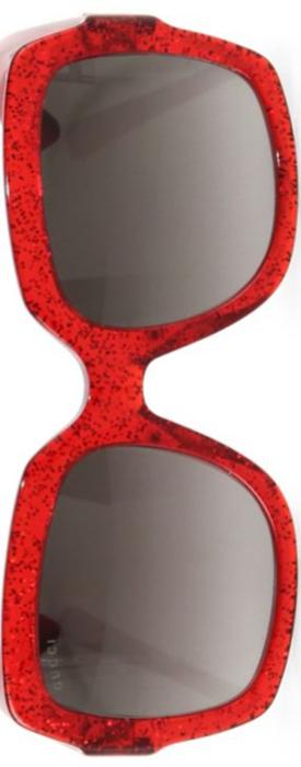 Gucci 54MM Oversized Glitter Square Sunglasses