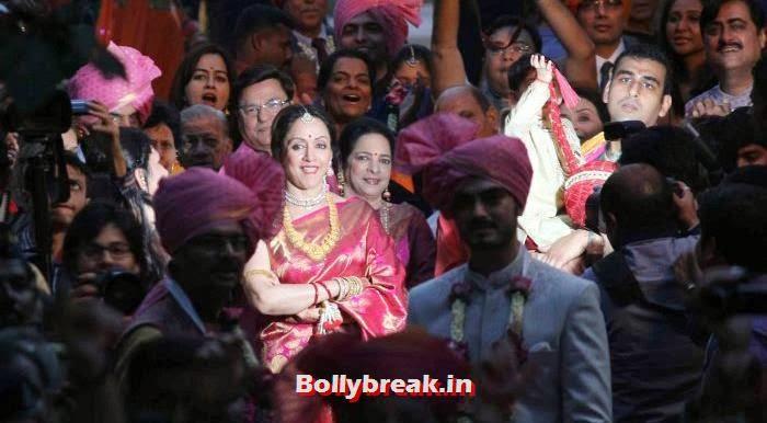 Hema Malini, Ahana Deol Wedding & Reception Pics