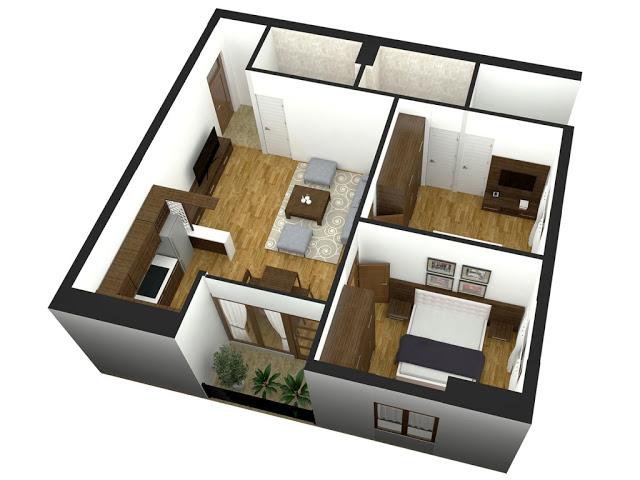 mặt bằng thiết kế căn hộ TBUDEC PLAZA