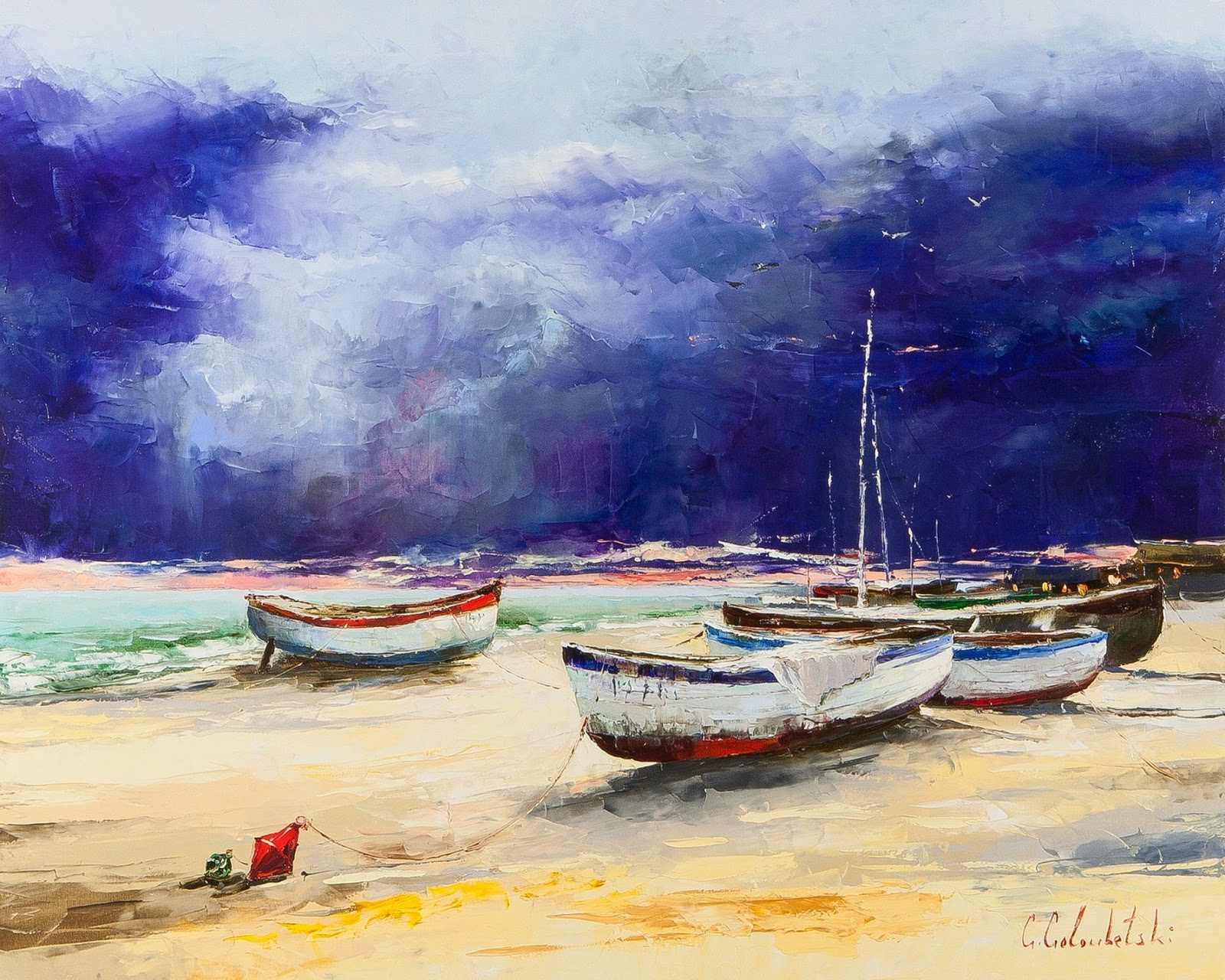 Gleb Goloubetski Fishing boats