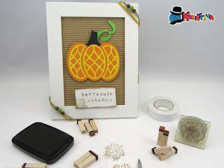 decorare una cornice per l'autunno
