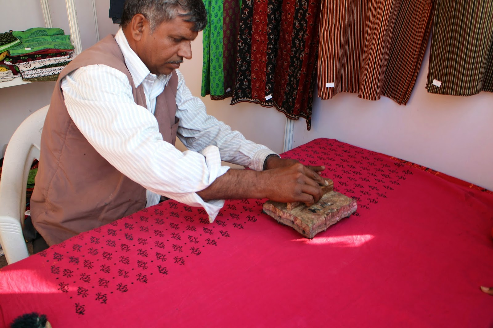 Rann Utsav, Rann of Kutch, Kutch, Gujarat, Gujarat Tourism, Handicraft, Kutch Handicraft, Block Printing