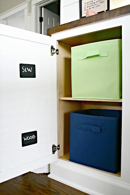 Hidden craft room storage