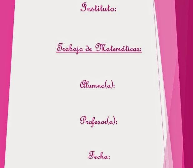 caratula rosada para matematicas, caratula rosada para trabajo de matemáticas, caratula para trabajo de matematicas para chicas, caratulas decoradas para matematicas, caratulas con decoración para matematicas, caratulas con colores de chicas