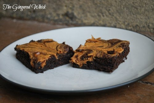 Chocolate Stout & Peanut Butter Swirled Brownies - The Gingered Whisk