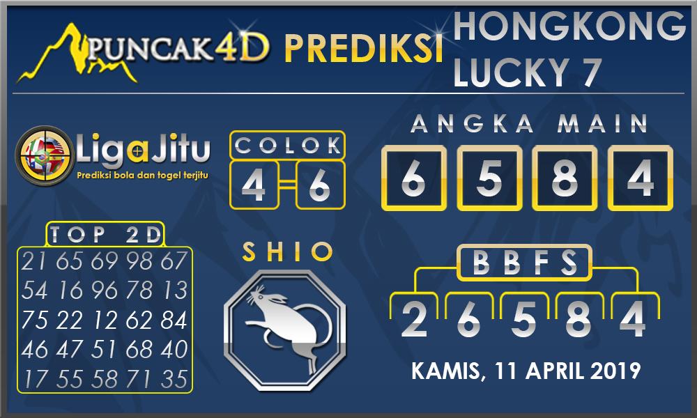PREDIKSI TOGEL HONGKONG LUCKY7 PUNCAK4D 11 APRIL 2019