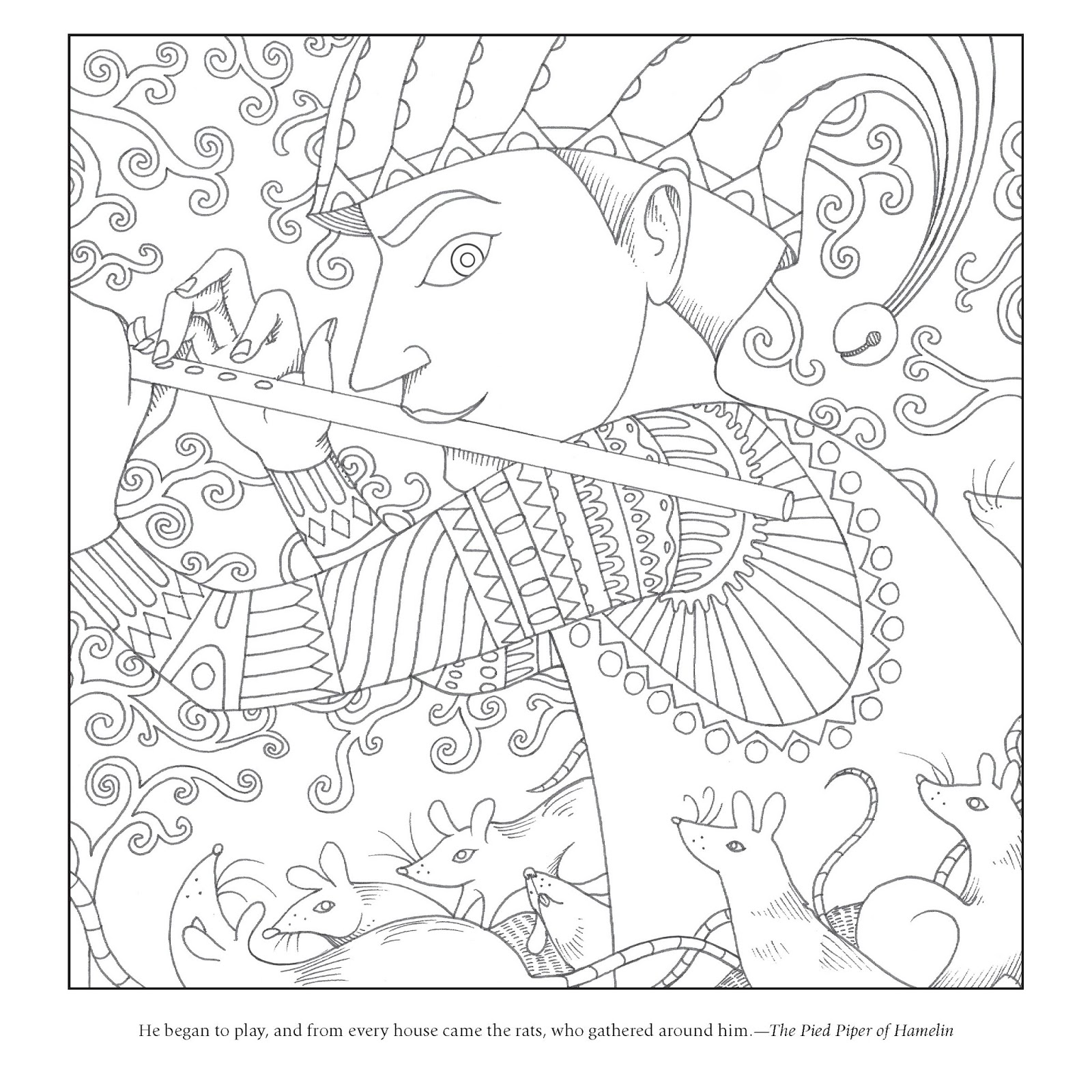 grimm fairy tale coloring pages - photo#18