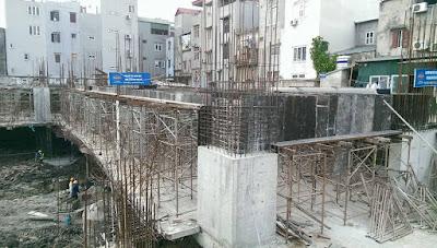Công trình xây dựng chung cư HUD3 Nguyễn Đức Cảnh