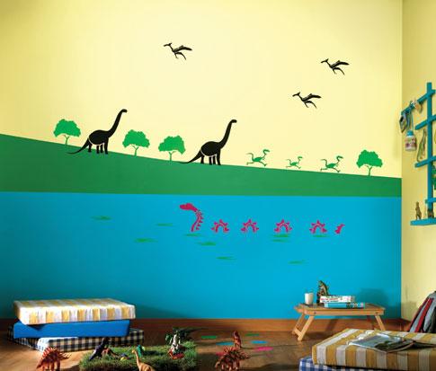 لون حائط غرفة اطفال