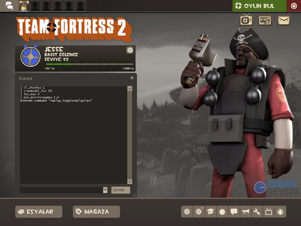 Team Fortress 2 Tüm Konsol Komutları Türkçe